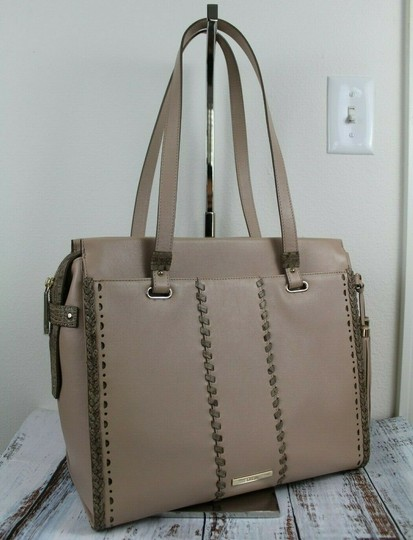 Brahmin Tote in Natural Crawford Image 7