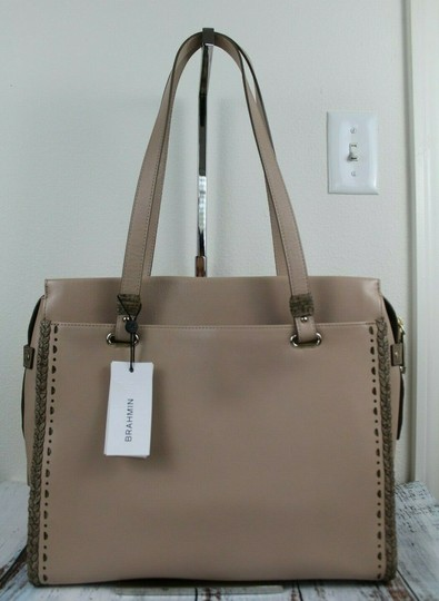 Brahmin Tote in Natural Crawford Image 8