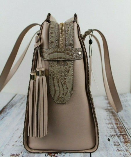 Brahmin Tote in Natural Crawford Image 9
