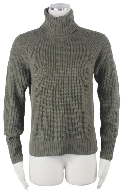 Preload https://img-static.tradesy.com/item/26118515/uniqlo-cashmere-ribbed-knit-waffle-weave-turtleneck-olive-green-sweater-0-1-650-650.jpg