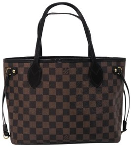 Louis Vuitton Lv Neverfull Neverfull Pm Damier Canvas Shoulder Tote in Brown