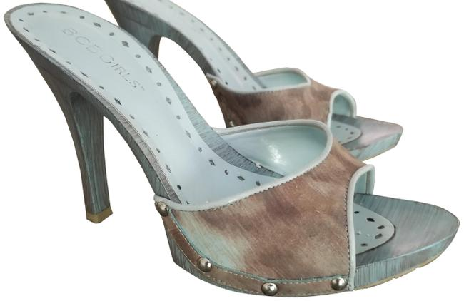 Item - Light Blue/ Beige Blend Wash Pumps Size US 6 Regular (M, B)