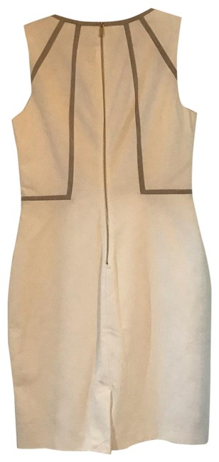 Preload https://img-static.tradesy.com/item/26118539/calvin-klein-white-pencil-snake-and-gold-details-short-workoffice-dress-size-8-m-0-1-650-650.jpg