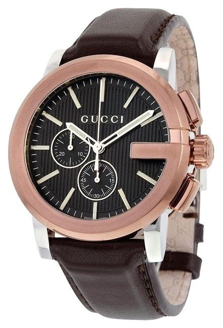 Item - Brown Leather/Rose Gold G-chrono Chronograph Ya101202 Men's Watch