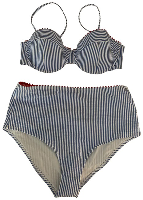 Preload https://img-static.tradesy.com/item/26118550/jcrew-blue-pinstripe-high-waisted-bikini-set-size-12-l-0-3-650-650.jpg