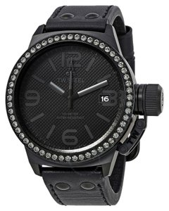 TW STEEL TW STEEL Canteen Unisex Black Dress Watch TW10 Black Analog Crystals