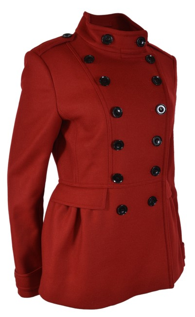 Item - Red New Wool Casmere Adamsleigh Peplum Coat Size 12 (L)