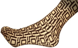 Wolford Black and Tan Wolford Patterned Opaque Tights