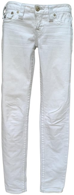 Item - Optic White Light Wash Basic with Flaps Skinny Jeans Size 27 (4, S)