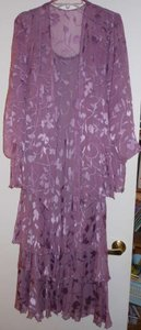 Cameron Blake Heather/Purple Heather Silk Burnout Dress