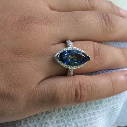 Gems'B Marquise Natural Lolite White Gold Plated Over Sterling Silver Image 10