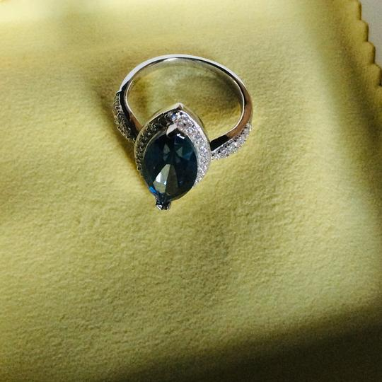 Gems'B Marquise Natural Lolite White Gold Plated Over Sterling Silver Image 5