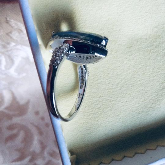 Gems'B Marquise Natural Lolite White Gold Plated Over Sterling Silver Image 6