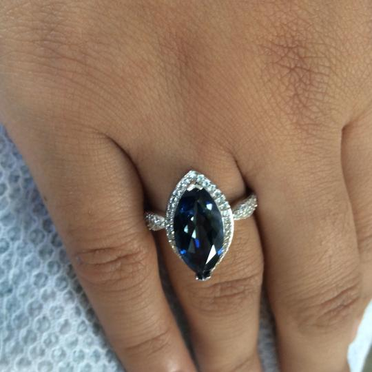 Gems'B Marquise Natural Lolite White Gold Plated Over Sterling Silver Image 7