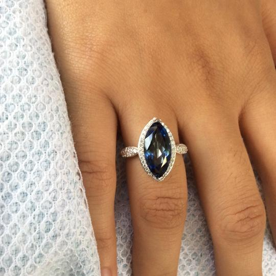Gems'B Marquise Natural Lolite White Gold Plated Over Sterling Silver Image 8