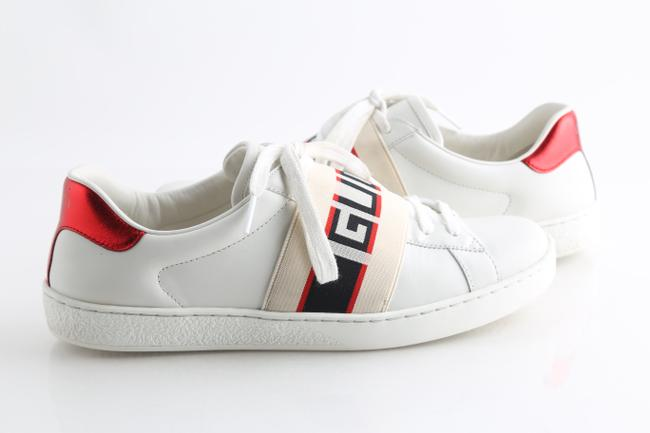 Gucci White Ace Stripe Sneakers Shoes Gucci White Ace Stripe Sneakers Shoes Image 1