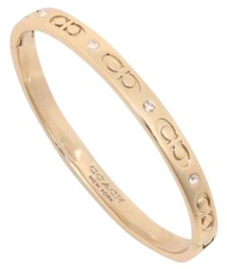Coach NWT Coach Signature Gold Kissing C Bangle Bracelet