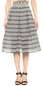 Tibi Skirt Black/Beige