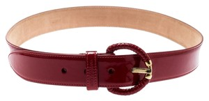 Dolce&Gabbana Dolce and Gabbana Red Patent Leather Belt 90CM