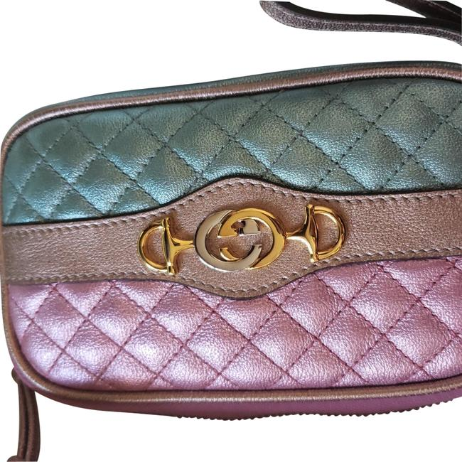 Item - Phone Case Trapuntat Quilted Multicolor Lambskin Leather Wristlet