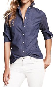 Banana Republic Classic Oxford Longsleeve Button Down Shirt Blue