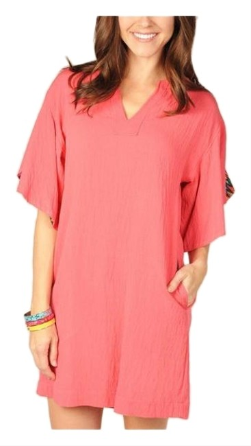 Uncle Frank Pink Women's Coral Tunic Short Casual Dress Size 8 (M) Uncle Frank Pink Women's Coral Tunic Short Casual Dress Size 8 (M) Image 1