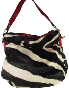 Cavalcanti Zebra Cow Fur Leather Hobo Onm005 Shoulder Bag