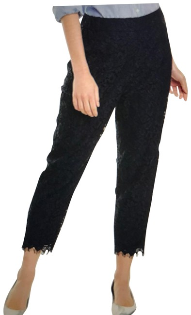 Item - Black Pull-on In Lace Pants Size Petite 4 (S)