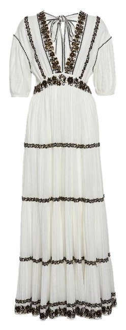 Item - White Alma Sequin Long Casual Maxi Dress Size 0 (XS)