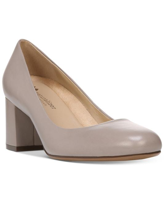 Naturalizer Gray W101 Whitney Turtle Dove Leather - N Pumps Size US 9.5 Narrow (Aa, N) Naturalizer Gray W101 Whitney Turtle Dove Leather - N Pumps Size US 9.5 Narrow (Aa, N) Image 1