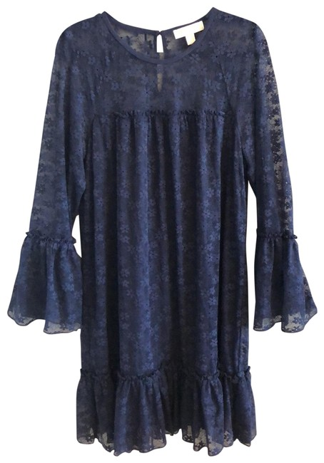 Item - Navy Blue Rn 111818 Mid-length Night Out Dress Size 14 (L)