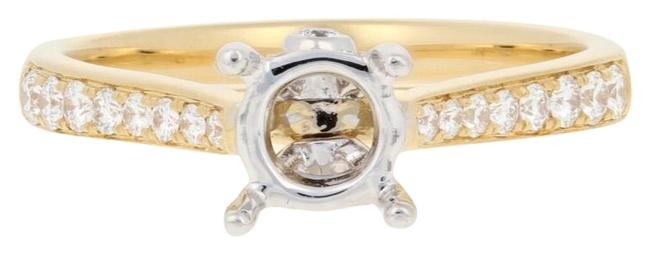Wilson Brothers Jewelry Yellow New Semi-mount Engagement 18k Gold Fits 5-6.5mm Center E5587 Ring Wilson Brothers Jewelry Yellow New Semi-mount Engagement 18k Gold Fits 5-6.5mm Center E5587 Ring Image 1