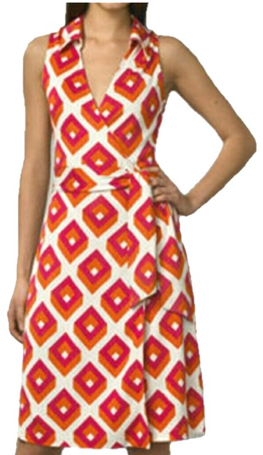 Item - Red and Pink St. Jude Silk Short Casual Dress Size 8 (M)