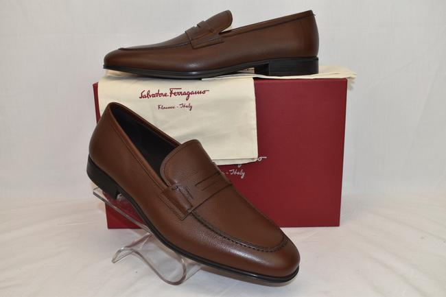 Item - Brown Fiorino 2 Pebbled Leather Penny Loafers Us 9 D Shoes