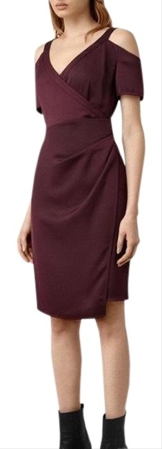 Item - Maroon Cardia Mid-length Cocktail Dress Size 2 (XS)