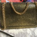 Salvatore Ferragamo Vara Bow Glitter Gold/Black Calfskin Leather Cross Body Bag Salvatore Ferragamo Vara Bow Glitter Gold/Black Calfskin Leather Cross Body Bag Image 5