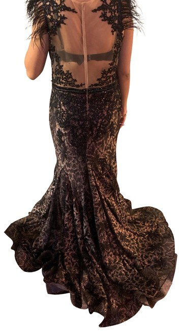 Item - Black Red White Black-white-red Gown. Long Formal Dress Size 18 (XL, Plus 0x)