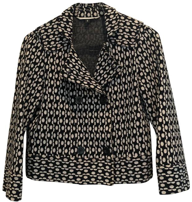 Item - Black and White Cropped Jacket Size 6 (S)