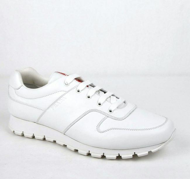 Item - White Smooth Leather Lace Up Sneaker Uk 12 / Us 13 4e3363 Shoes