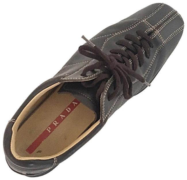 Item - Chocolate Brown Sport Leather Sneakers Size EU 37 (Approx. US 7) Regular (M, B)