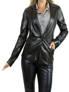 Gucci Leather Jacket black Blazer