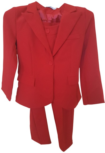 Item - Red Two Pieces Sets Blazers and Trousers Pant Suit Size 4 (S)