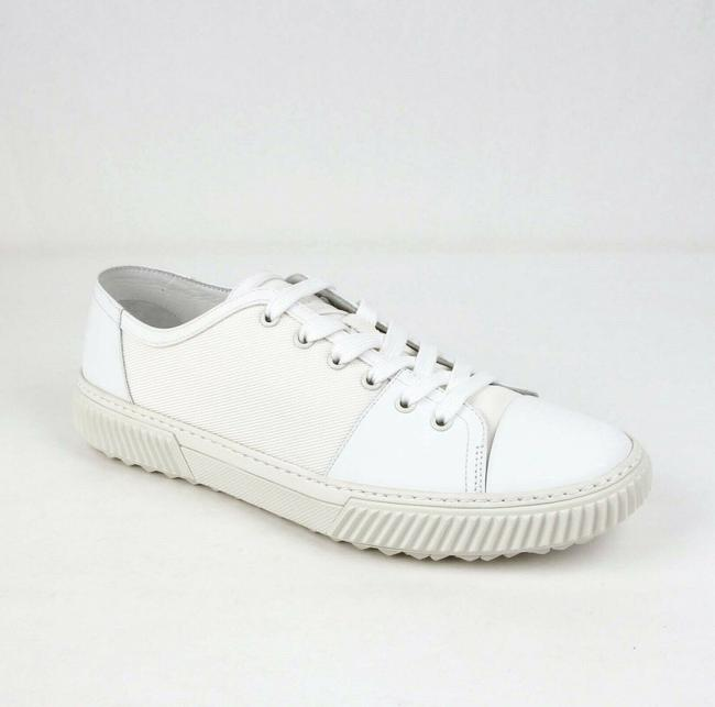 Item - White Mesh and Rubber Lace Up Sneaker Uk 10.5/Us 11.5 4e3058 Shoes