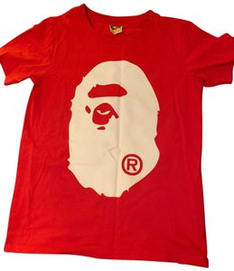 Bathing Ape T Shirt Red and White
