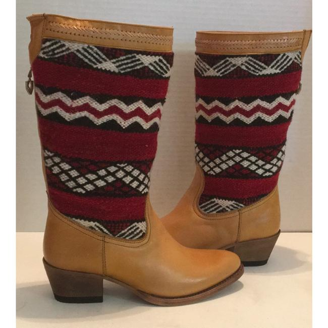 Tan Red New In Box Alcazar Boots/Booties Size US 7 Regular (M, B) Tan Red New In Box Alcazar Boots/Booties Size US 7 Regular (M, B) Image 5