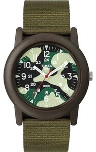 Timex Timex Unisex Sport Watch T2N207 Green Camo Analog