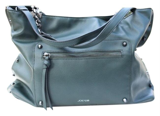 Item - Studded Dark Green Faux Leather Tote