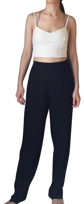 Item - Wool High Waisted Trousers In Black Pants Size 4 (S, 27)