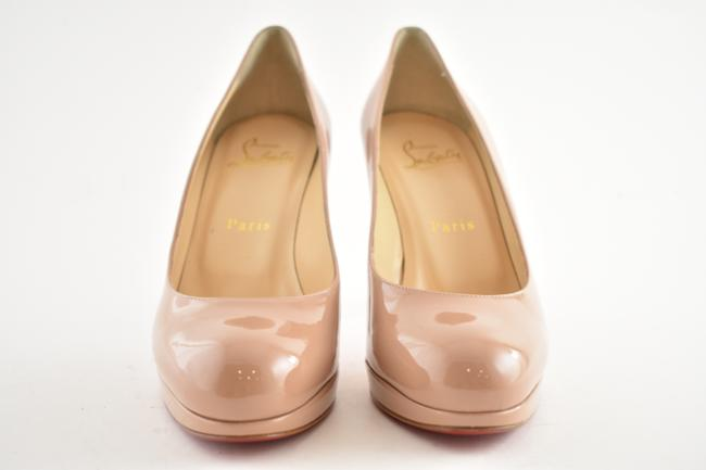 CHRISTIAN LOUBOUTIN Patent New Simple 120 Pumps 40 Nude