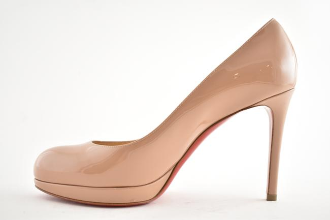 Christian Louboutin Nude Patent Leather New Simple 120